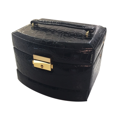 鱷魚壓紋/手錶/飾品/精緻質感收藏盒/飾品08-1/自動滑軌