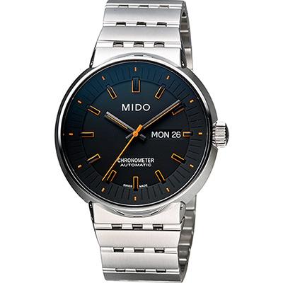 MIDO All Dial 羅馬競技系列特別版機械腕錶-黑x橘時標/42mm