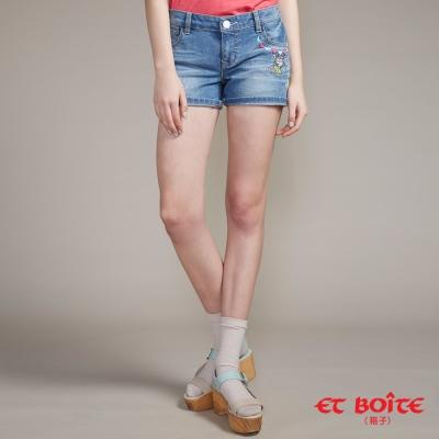 ETBOITE 箱子 BLUE WAY 夏威夷娃短褲-淺藍