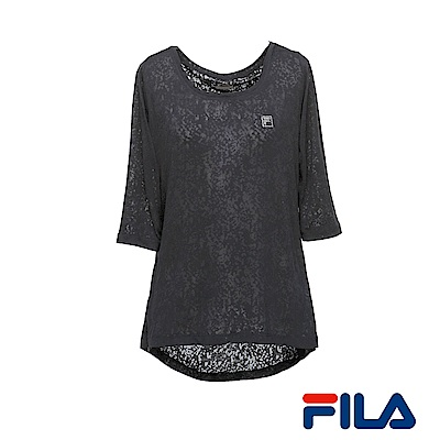 FILA女性簡約T恤(個性黑) 5 TER- 1604 -BK