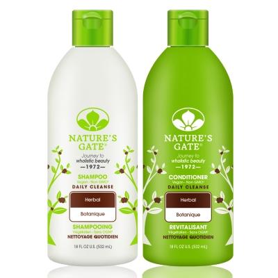 Nature's Gate天然之扉 無基改雙倍每日草本植萃健康洗髮護髮組