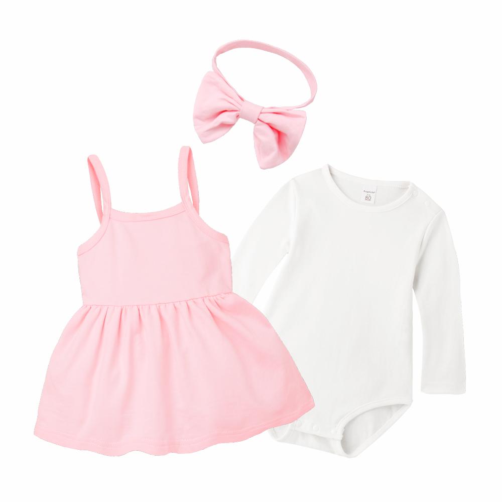 baby童衣 簡約質感洋裝+長袖包屁衣(附髮帶) 70115 product image 1
