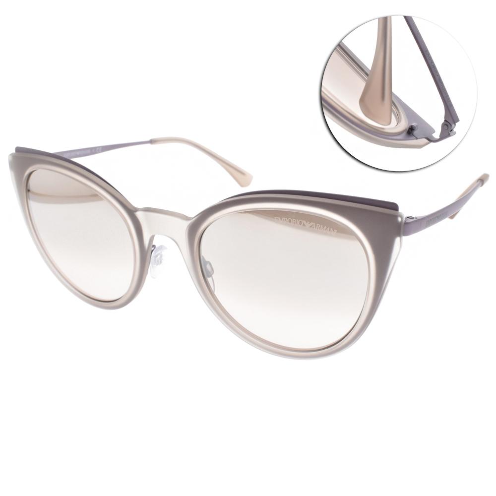 EMPORIO ARMANI太陽眼鏡 歐美貓眼/淡紫-白水銀#EA2063 32178Z
