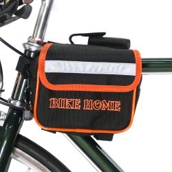 【BikeHome】 自行車/腳踏車/折疊車專用上管馬鞍袋/包-黑橘