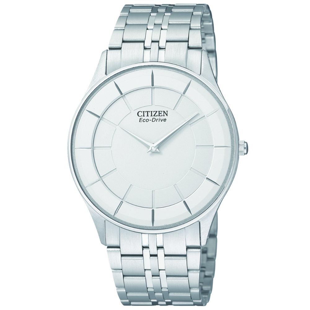 CITIZEN 中性簡約光動能超薄腕錶(AR3010-65A)/白/36mm