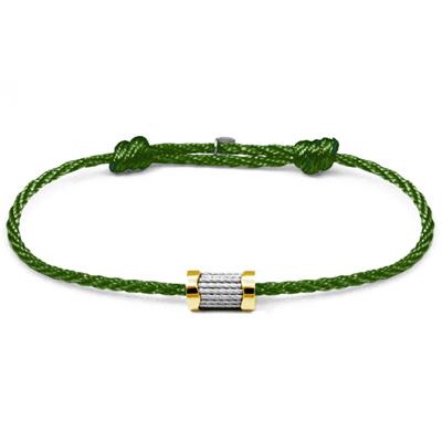 CHARRIOL 夏利豪 Forever 色彩拉繩綠色手環