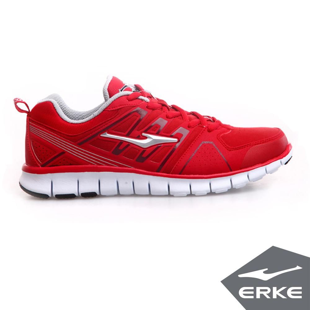 ERKE 鴻星爾克。男運動綜訓慢跑鞋-大紅