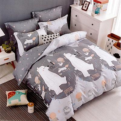 生活提案 純棉涼被床包組 加大四件組 北極熊