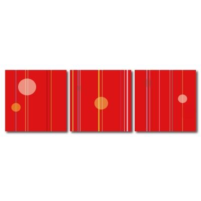 123點點貼- 三聯式無痕創意壁貼 - 線曲 30*30cm