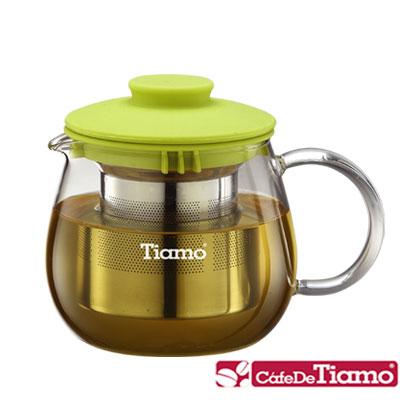 Tiamo FH-3441YX2 玻璃花茶壺-附濾網 400ml(HG1983)
