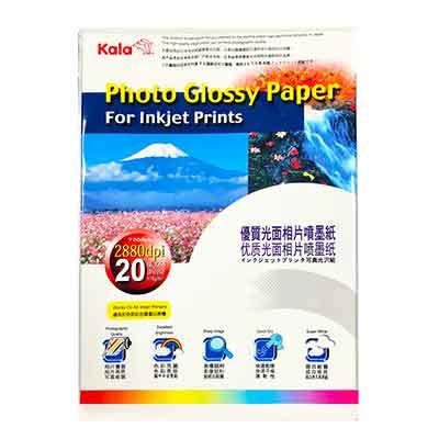 Kala優質光面相片噴墨紙/相片紙A 4 * 4 包( 170 g/㎡‧ 20 張/包)