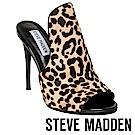 STEVE MADDEN-SINFUL 魚口高跟涼拖鞋-豹紋