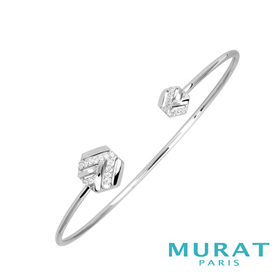 MURAT PARIS米哈巴黎 交錯線條六角型手環