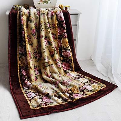 品質本位 花海情緣-粉 日製雙層單人毯
