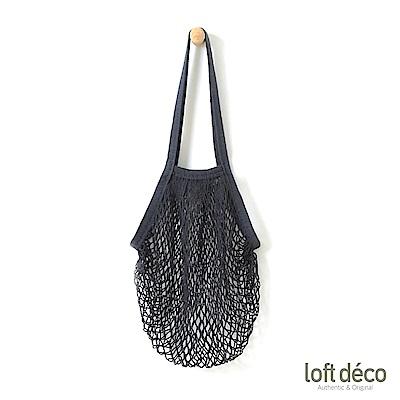 Loft Deco | Black | 摺疊編織袋