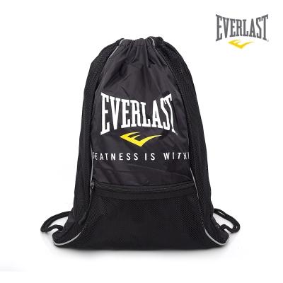 EVERLAST 拳擊運動品牌-多功能束口袋-黑