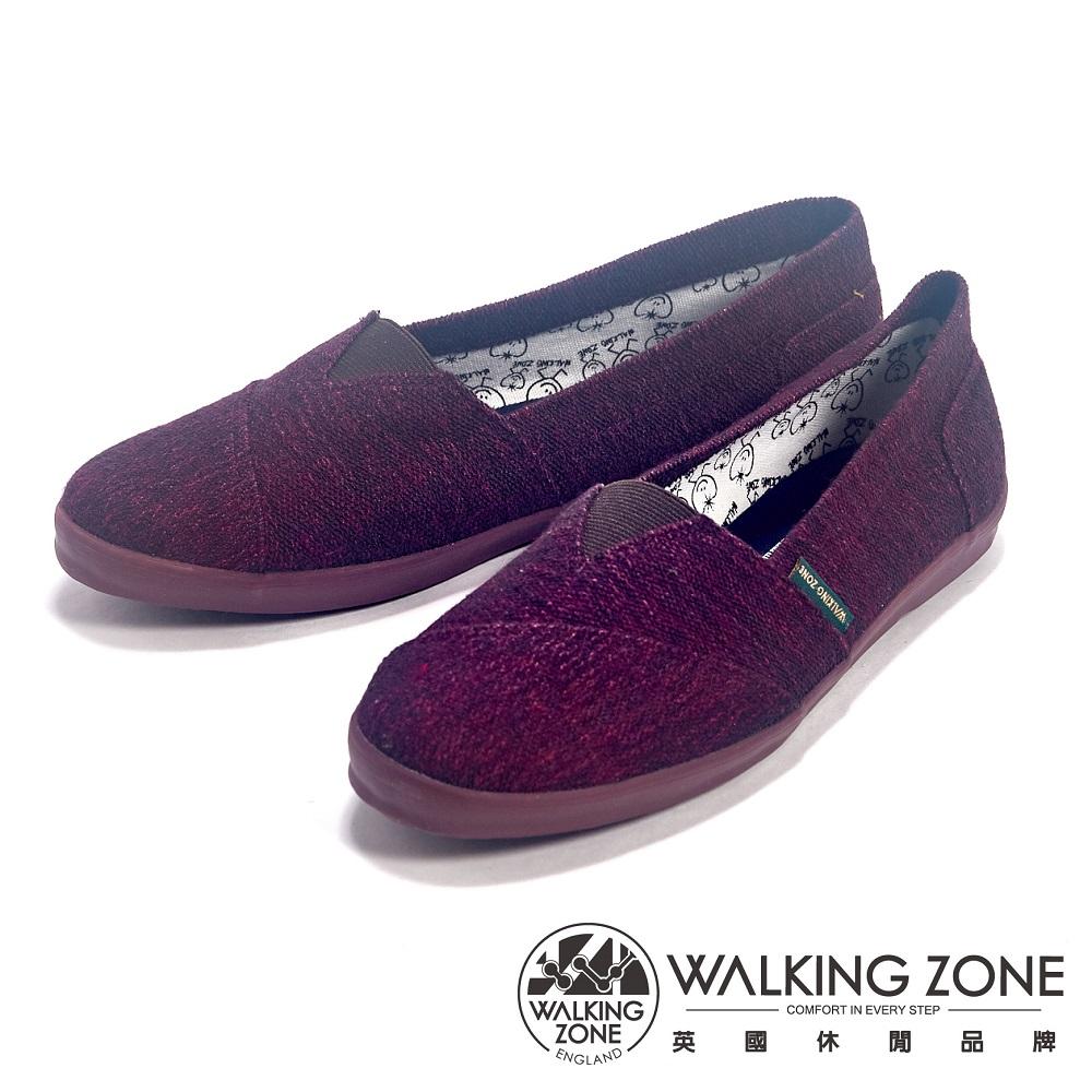 WALKING ZONE 悠閒步伐輕便百搭帆布休閒女鞋-紫