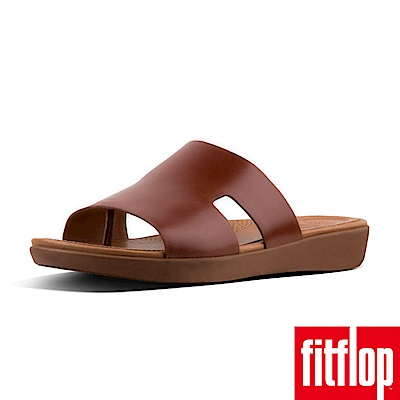 FitFlop H-BAR TM SLIDE SANDALS  LEATHER焦糖