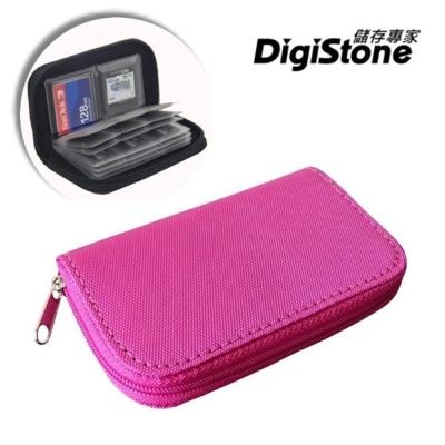 DigiStone 22片裝多功能記憶卡收納包(18SD+4CF)-玫紅X1P
