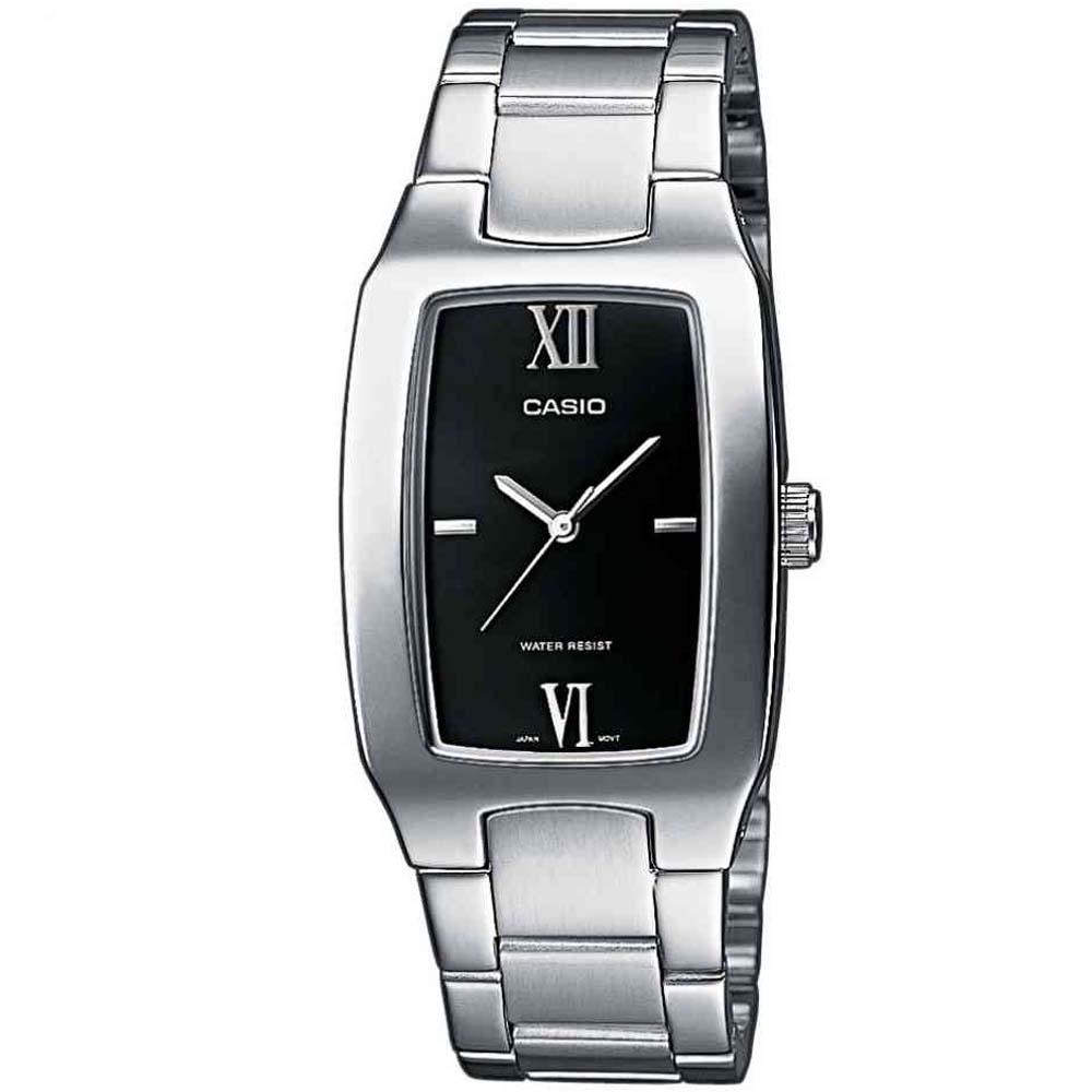 CASIO 經典酒桶型羅馬紳士腕錶(MTP-1165A-1C2)-黑/27mm