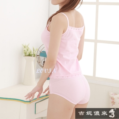 吉妮儂來 6件組舒適加大尺碼束腹提臀媽媽棉褲(隨機取色)
