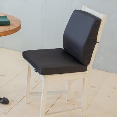 凱蕾絲帝-台灣製造-久坐良伴柔軟記憶護腰墊+高支撐坐墊兩件組-黑