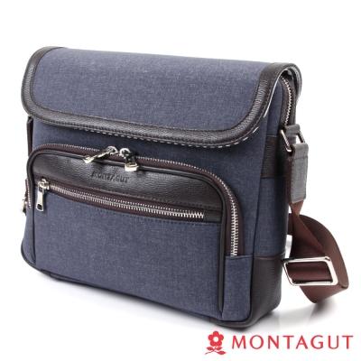 MONTAGUT夢特嬌-防潑水輕量側背包-時尚丹寧
