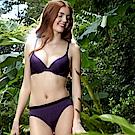 【Pierre Cardin 皮爾卡登女性內衣】迷夜拼色無痕內衣 (成套-深紫)