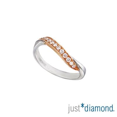 Just Diamond愛的約定18K雙色金 男女對戒-女戒