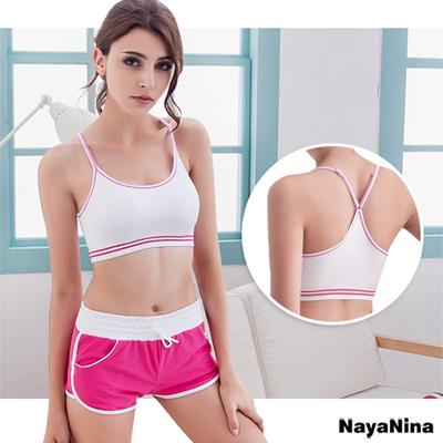 運動內衣 輕運動Y字美背運動內衣S-XL(白)Naya Nina