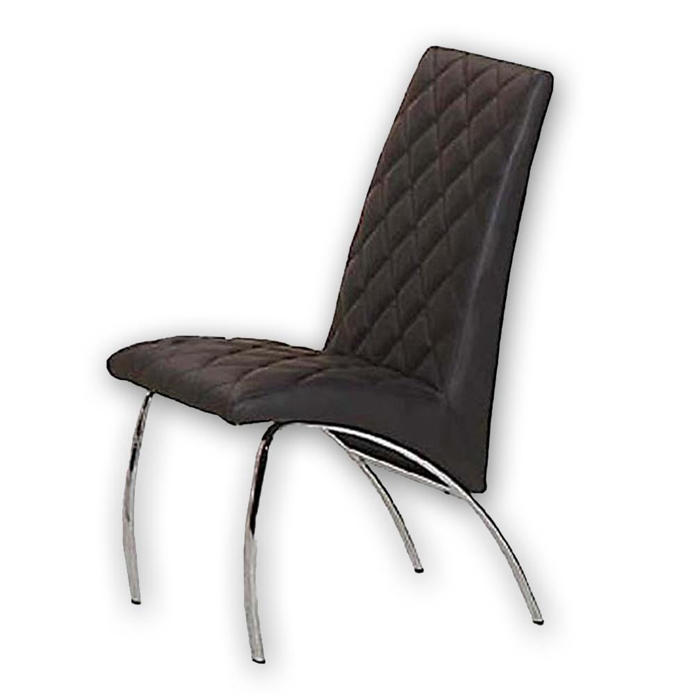 【AS】蘇蕊餐椅-黑菱格46x43x82