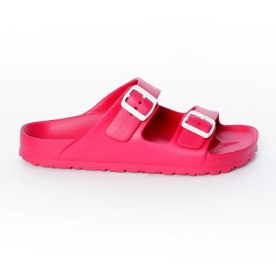 美國 AIRWALK 台灣製造超輕量休閒AB拖鞋-桃紅