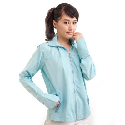 《日式全方位》抗UV防曬涼外套-天空藍