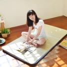 LooCa 吸濕排汗5cm透氣兩用輕便式床墊-單人