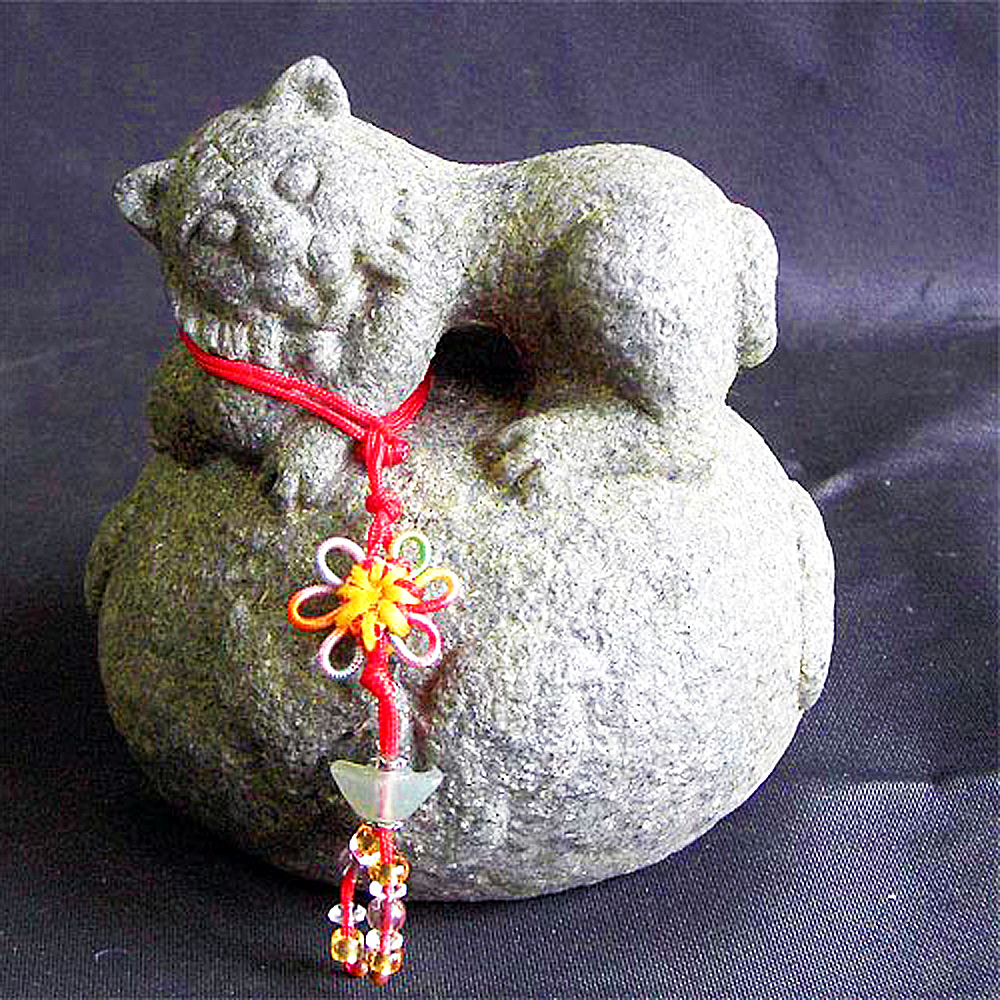 開運陶源  石塑造十二生肖【虎】青斗石*限量888