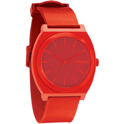 NIXON TIME TELLER P躍動色彩個性腕錶-紅/39.25x47mm
