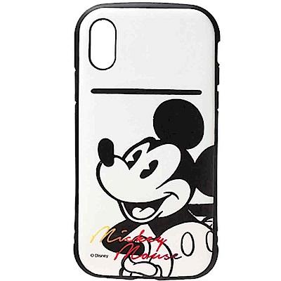【日本 PGA-iJacket】iPhone X迪士尼軍規防撞皮革硬式背蓋
