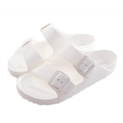 水陸兩用時尚休閒拖鞋 白 sk0181 魔法Baby