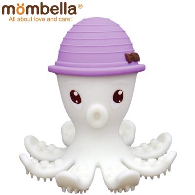 英國 Mombella 樂咬咬章魚固齒器 紫色