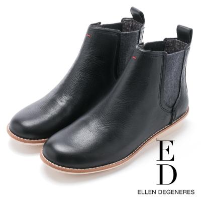 ED Ellen DeGeneres 圓楦素面短筒雀兒喜靴-黑色