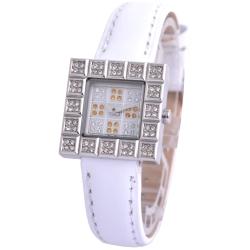 Cloie甜心晶鑽方程式時尚女錶-黃/23mm