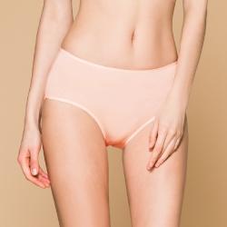 台灣製 保養級天然蠶絲蛋白低敏感透氣 M-XL 中腰內褲 甜蜜粉 可蘭霓Clany