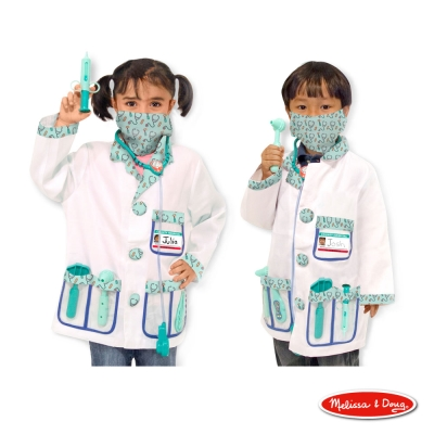 美國瑪莉莎 Melissa & Doug 裝扮遊戲 - 醫生服遊戲組