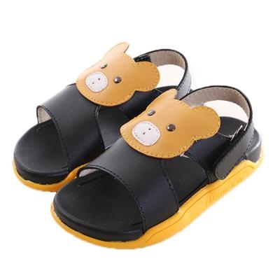 黃熊魔鬼貼休閒涼鞋 黃黑 sk0173 魔法Baby