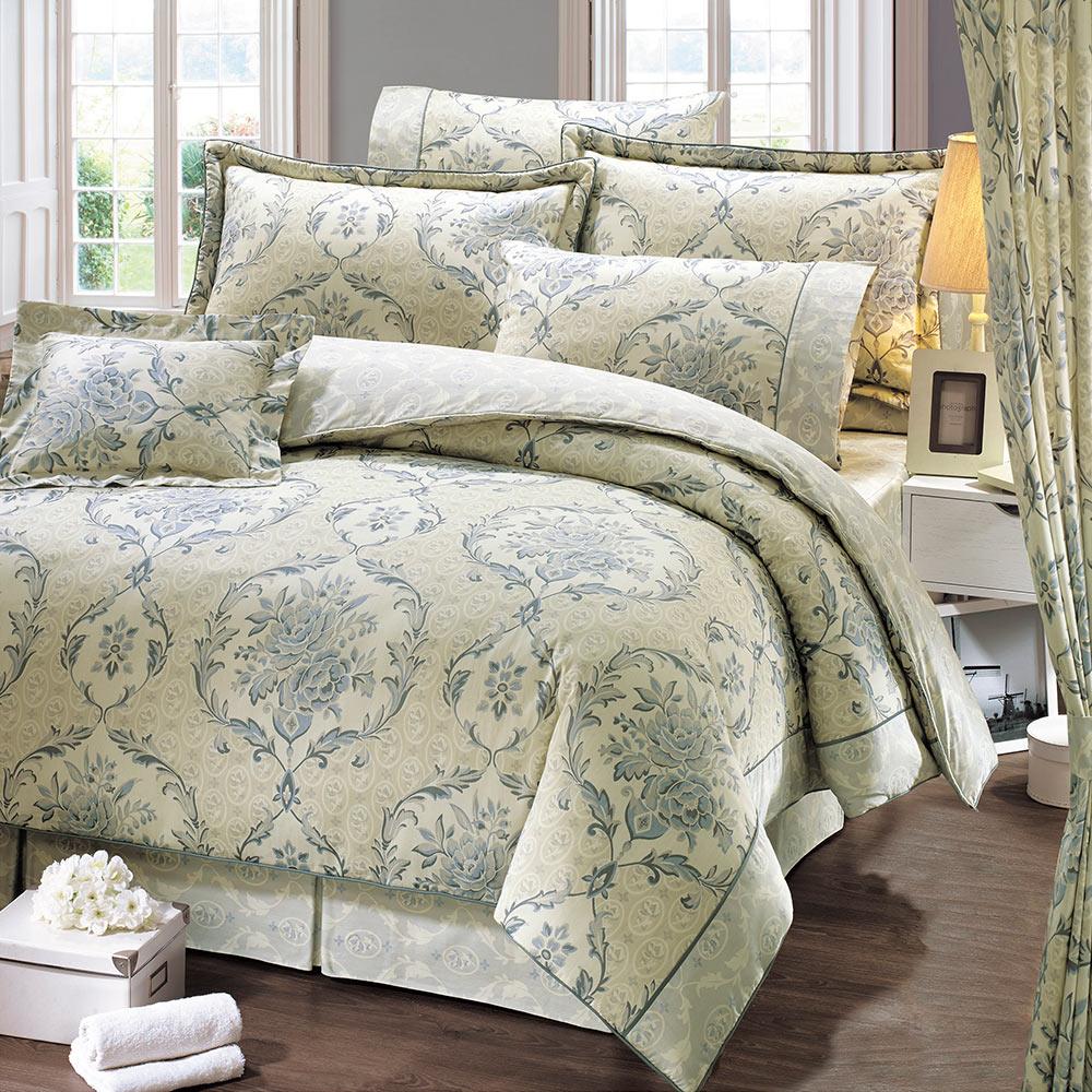 鴻宇HongYew 美國PIMA棉 400織-波希米亞 雙人七件式兩用被床罩組