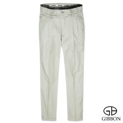 GIBBON 立體條紋輕量打摺休閒褲‧淺灰31~42