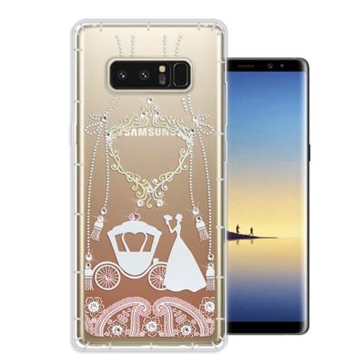 WT Samsung Galaxy Note 8 奧地利水晶彩繪空壓手機殼(精靈...