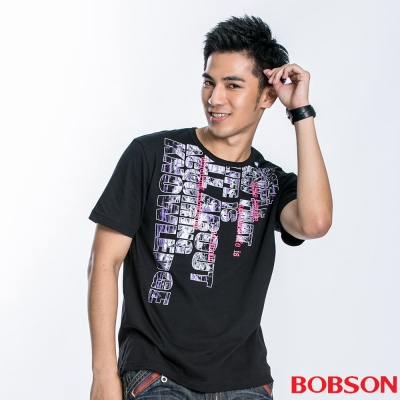 BOBSON 男款字母印圖短袖上衣