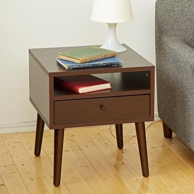 Bed Maker-投影機 抽屜收納茶几/邊桌/床頭櫃‧實木桌腳 台灣製造(四色)
