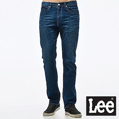 Lee 牛仔褲 726中腰舒適小直筒牛仔褲-男款-藍